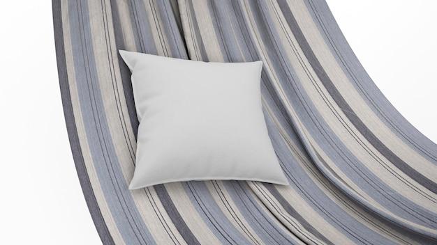 Cushion in gray color on hammock