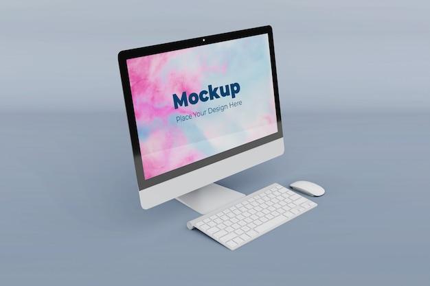 カスタマイズ可能なデスクトップ画面のモックアップデザインテンプレート