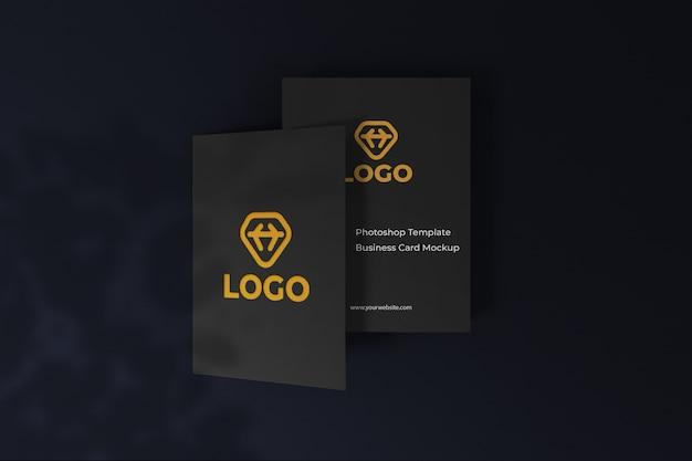 Настраиваемый элегантный темный макет дизайна визитной карточки