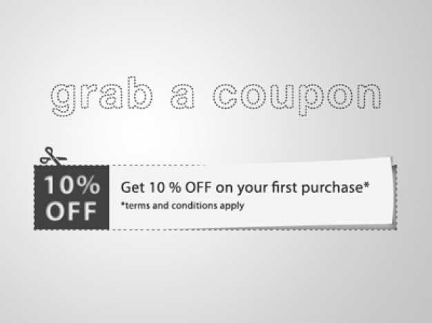 Cut coupon with discount note