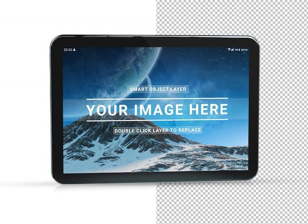 Cut out black tablet mockup