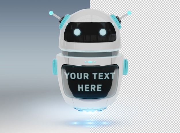 Cut out chatbot on gey  mockup