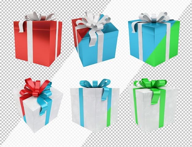 편집 가능한 색상으로 크리스마스 선물 잘라 내기