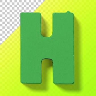 투명한 배경에 격리된 어린이 장난감 플라스틱 알파벳의 글자를 잘라냅니다.