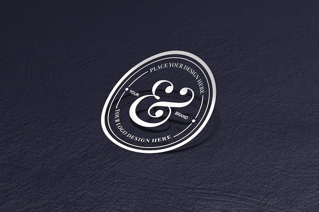 Cut out sticker and logo mockup