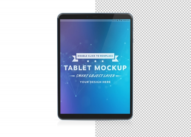 Cut out tablet mockup