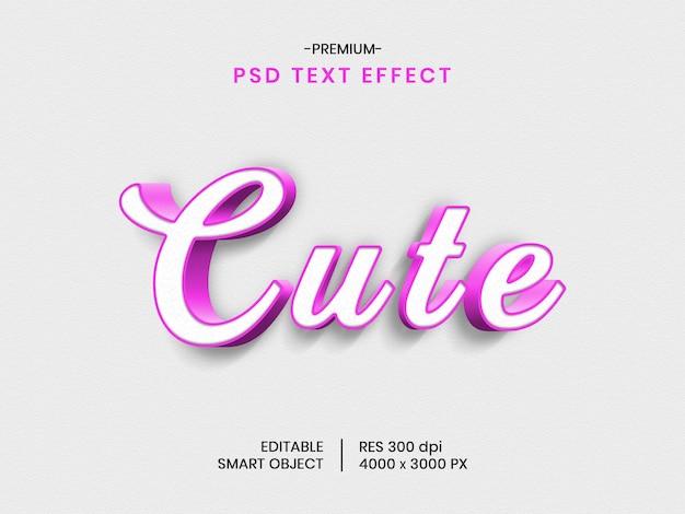 Cute 3d text effect