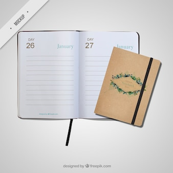 Cute appointment book mockups