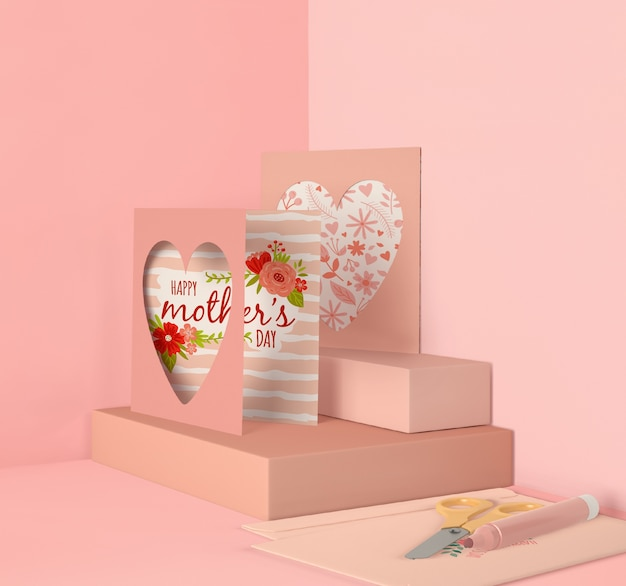 Cute arrangement for mother's day mock-up