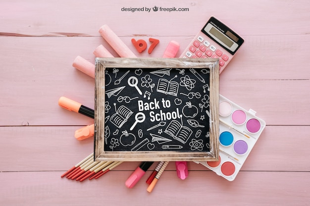 Cute back to school composition
