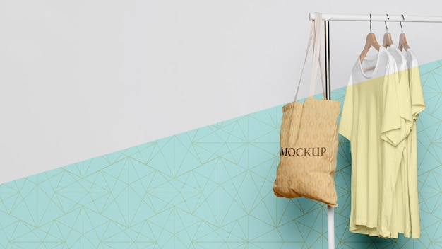 Cute bag concrpt mock-up