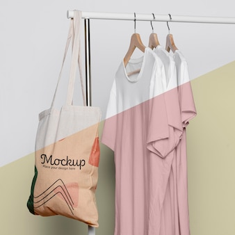 Cute bag concrpt mock-up