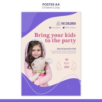 Cute children's day print template