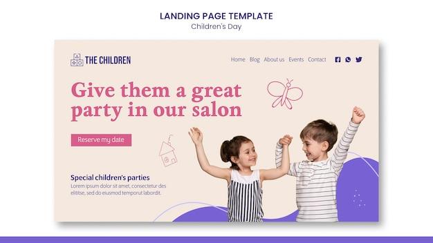 Cute children's day web template