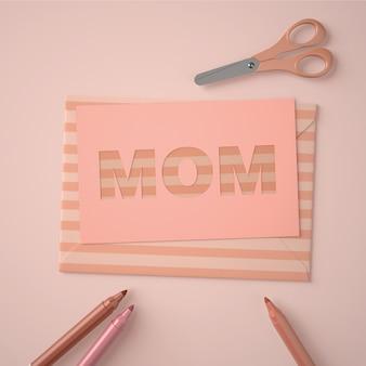 Composizione carina per la creatrice di scene per la festa della mamma