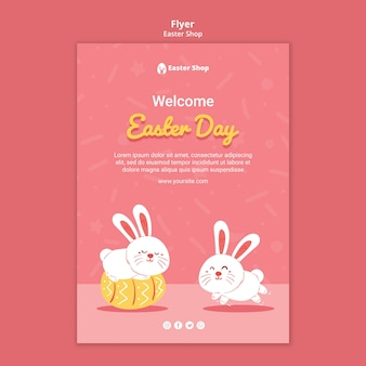 Cute easter day poster template