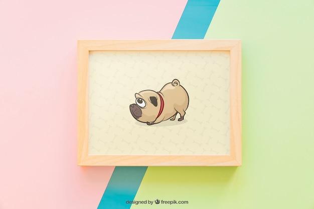 Cute frame mockup