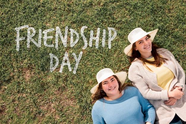 Cute friends celebrating friendship day