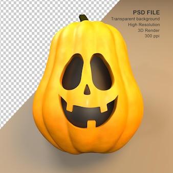 Cute happy halloween pumpkin 3d rendering
