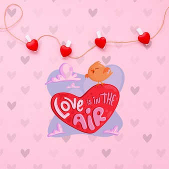 Cute valentine's day concept mock-up