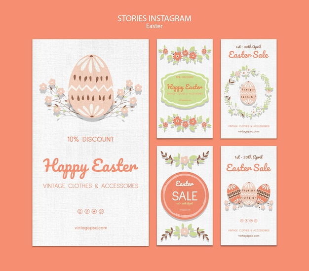 Cute vintage easter instagram sories