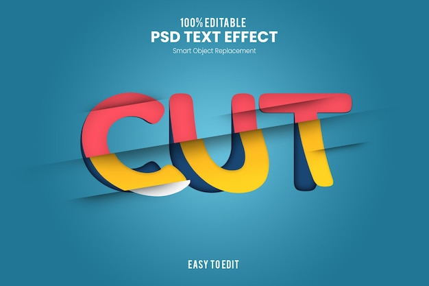 Эффект cuttext