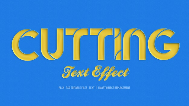 Cutting 3d text style effect