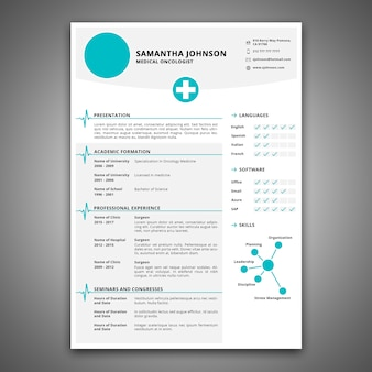 Cv mockup for health care job
