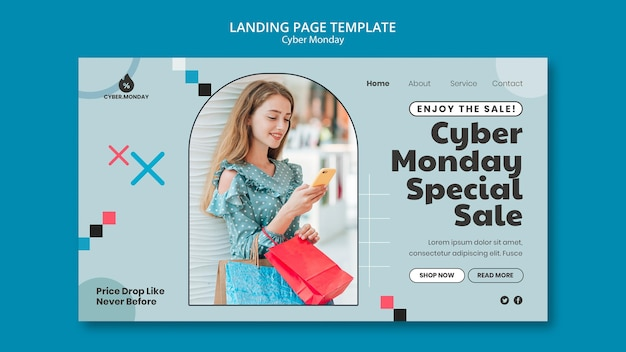 Cyber monday landing page template