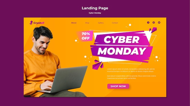 Cyber monday landing page