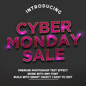 Cyber monday sale tridimensional text