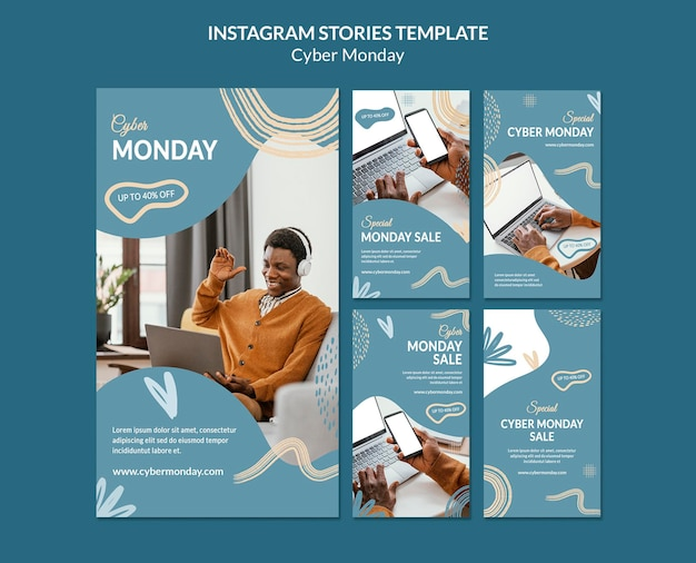 Cyber monday social media stories pack