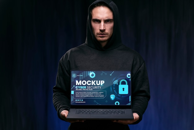 Cyber security design mockup