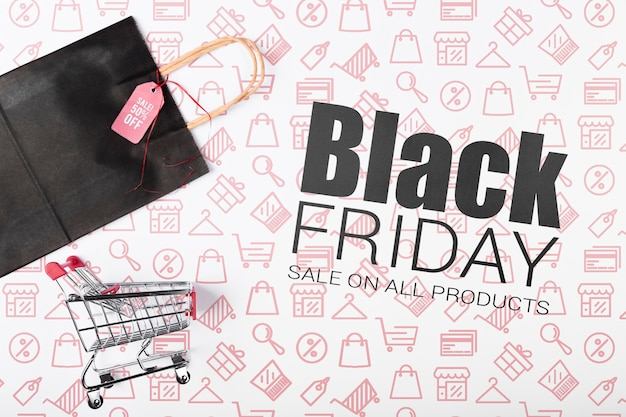Cyber shoppings on black friday promotion