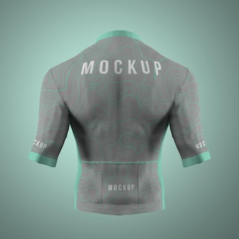 Cycling jersey mockup isolated