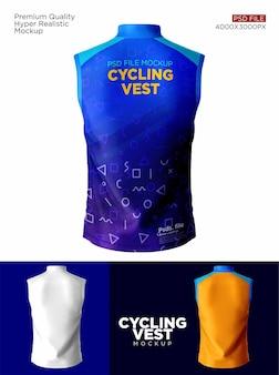 サイクリングベストのモックアップ