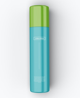 Цилиндр металлическая бутылка дизайн макета