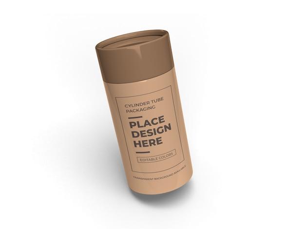 실린더 튜브 포장 모형 디자인 절연
