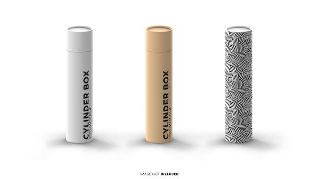 Cylindrical box mockups