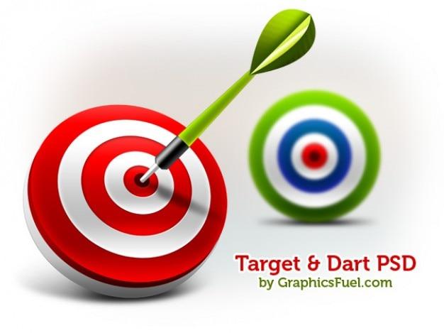 D target & dart psd & icons
