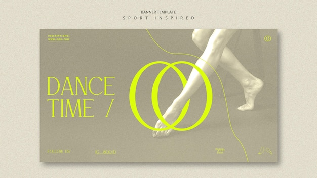 Dance academy ad template banner