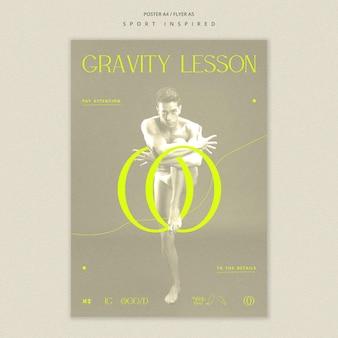Dance academy poster template