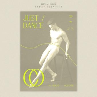 Dance academy template flyer