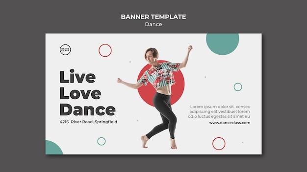 Dance class horizontal banner Free Psd