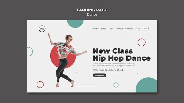 Dance class landing page template