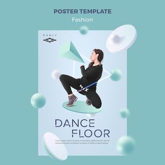 Dance class poster template concept