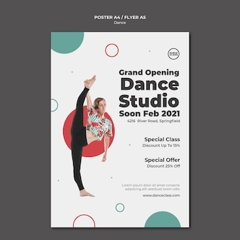 댄스 클래스 포스터 템플릿