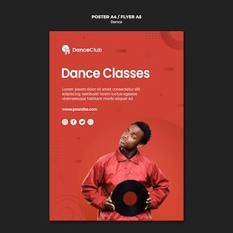 Poster di lezioni di danza Psd Gratuite