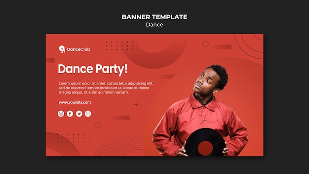 Dance concept banner template style