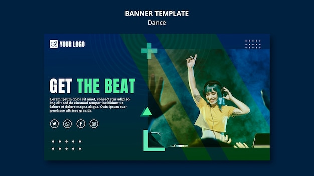 Dance concept banner template